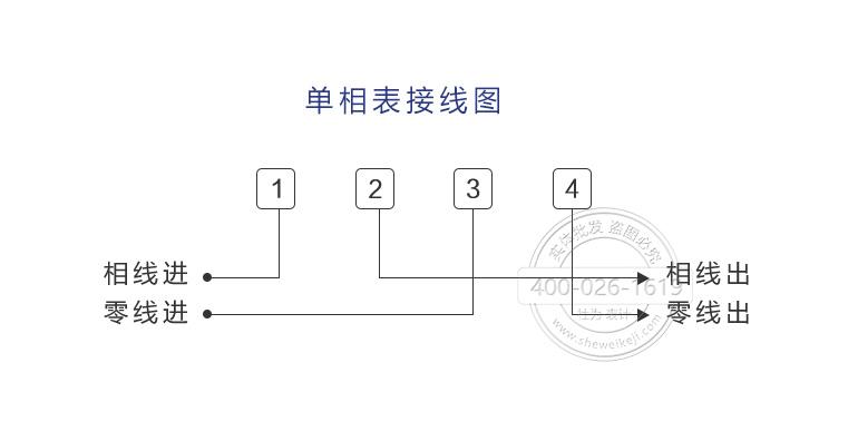 单相电子式预付费电表接线图
